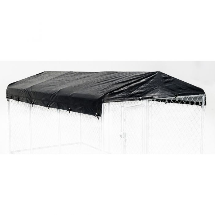 Lucky Dog® Standard Kennel Cover & Roof Frame for Dog Kennels - 5'W x 15'L