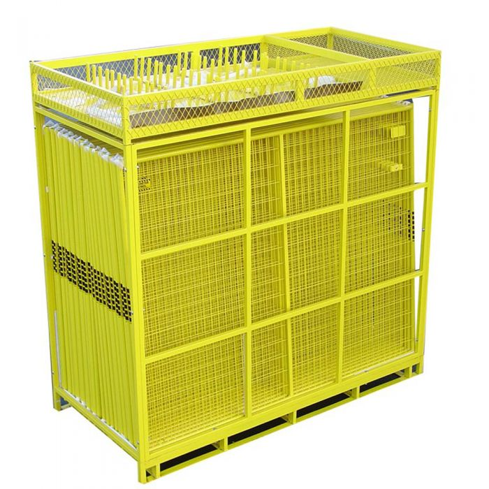 Perimeter Patrol™ Temporary Security Fence Kit – Full Pallet-Yellow/Yellow