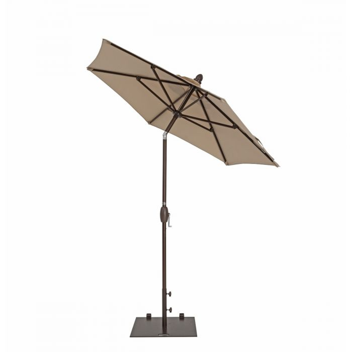 TrueShade Plus 7' Garden Parasol with Push Button Tilt and Crank